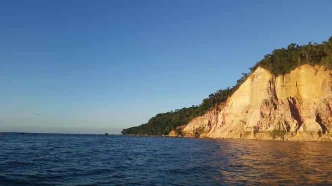 Vista da Gamboa de barco