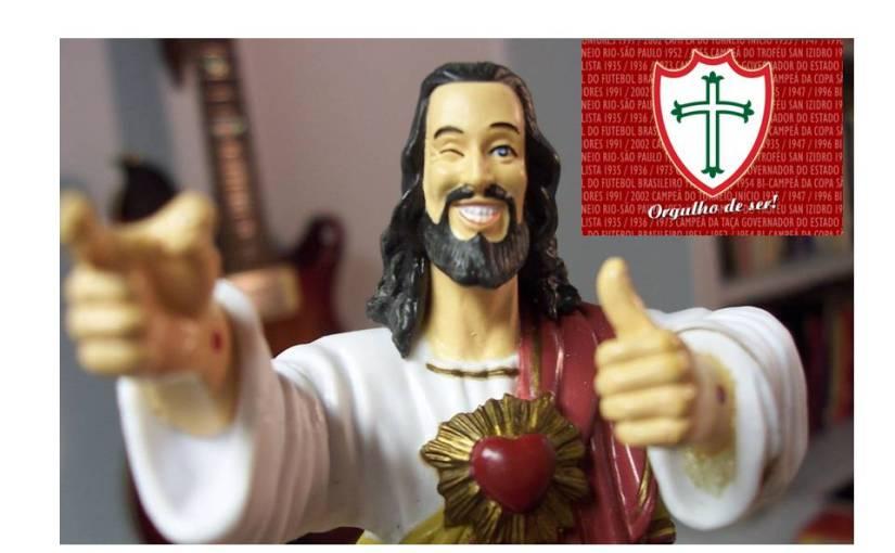 Jesus Cristo, o maior torcedor daPortuguesa!
