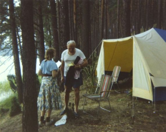 Papa e Tymieniecka Camping 1978