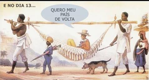 escravos nas manifestações